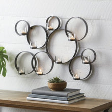 Load image into Gallery viewer, Iron Circle Wall Tealight Sconce - EK CHIC HOME