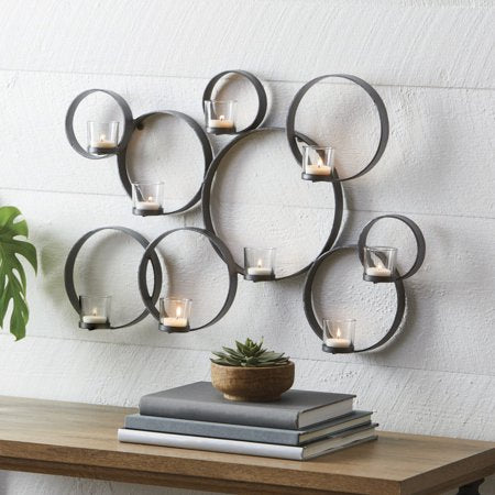 Iron Circle Wall Tealight Sconce - EK CHIC HOME