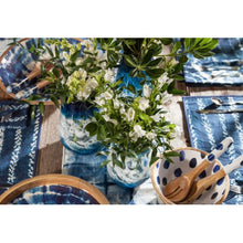 Load image into Gallery viewer, Set of 3 Indigo Blue and White Indoor Artisanal Glass - EK CHIC HOME