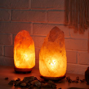 Himalayan Natural Glow Pink Salt Lamp, Large, 7-10 LBS - EK CHIC HOME