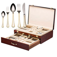 Load image into Gallery viewer, Italian Collection 'Damascus' 75-Pc Premium Silverware Flatware Serving Set - EK CHIC HOME