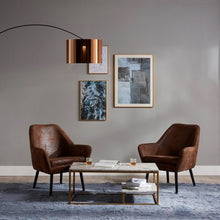 Load image into Gallery viewer, Curvella Arched Floor Lamps - Gold/Black - EK CHIC HOME