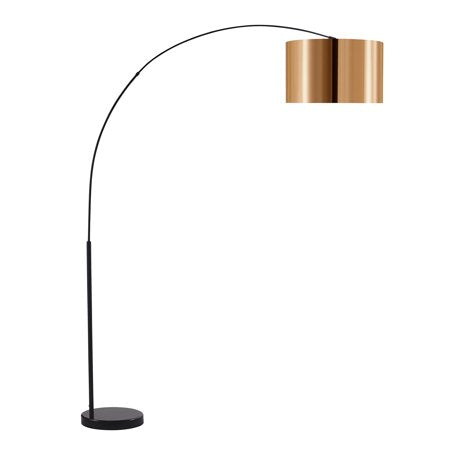 Curvella Arched Floor Lamps - Gold/Black - EK CHIC HOME