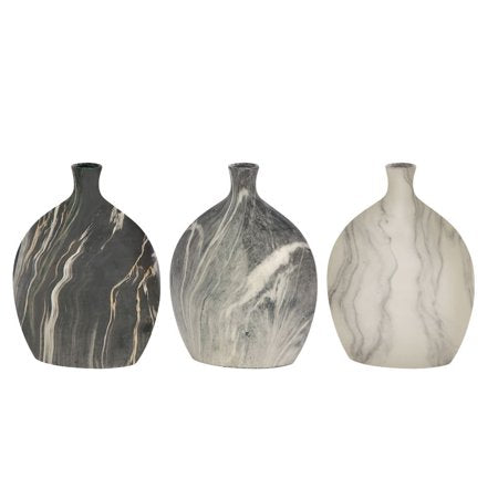 Classy Ceramic Vase Assorted Set of 3 - EK CHIC HOME