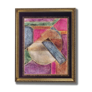Stained Glass Contemporary Wall Picture Gold Framed Art Print - EK CHIC HOME