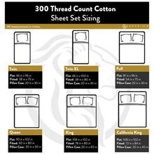 Load image into Gallery viewer, Superior 300-Thread-Count Cotton Sheet Set - EK CHIC HOME