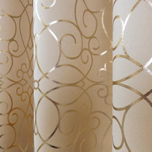 Load image into Gallery viewer, Metallic Gold or Silver Room Darkening Curtain Panel - EK CHIC HOME