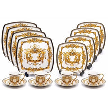 Load image into Gallery viewer, Royalty Porcelain 16-pc Luxury Dinner Set, 24K Gold - EK CHIC HOME