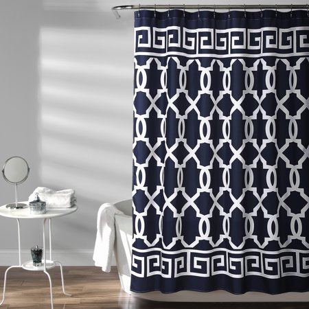 Maze Border Shower Curtain 72X72 - EK CHIC HOME