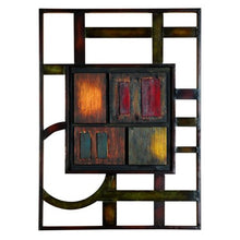 Load image into Gallery viewer, 27 X 20 Inch Abstract Geometric Metal Wall Plaque - EK CHIC HOME