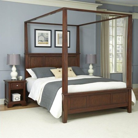 King Canopy Bed and 2 Night Stands - EK CHIC HOME