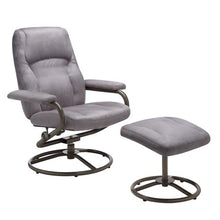 Load image into Gallery viewer, Plush Pillowed Recliner Swivel Chair and Ottoman Set - EK CHIC HOME