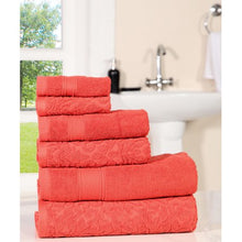 Load image into Gallery viewer, Cotton 6 Pc towel Set - EK CHIC HOME