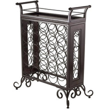 Load image into Gallery viewer, Antique Bronze Wine Rack, Removable Tray, Antique Bronze - EK CHIC HOME
