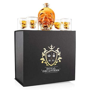 Skull Shaped Glass Decanter Gift Set - EK CHIC HOME