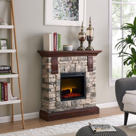40 inch Stone Electric Fireplace Heater - EK CHIC HOME