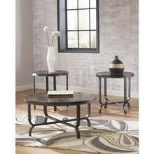Load image into Gallery viewer, 3 Piece Round Coffee Table Set in Dark Brown - EK CHIC HOME