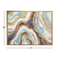 Load image into Gallery viewer, 36 x 47 inch Famed Marble Canvas Wall Art - EK CHIC HOME