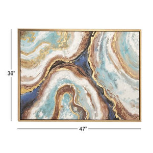 36 x 47 inch Famed Marble Canvas Wall Art - EK CHIC HOME