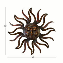 Load image into Gallery viewer, 35 Inch Metal Celestial Sun Wall Decor - EK CHIC HOME