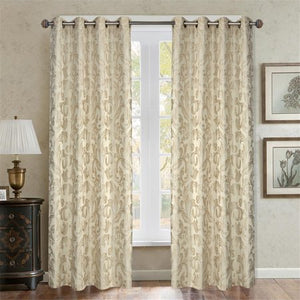 Baroque Paisley Curtain Panel - EK CHIC HOME
