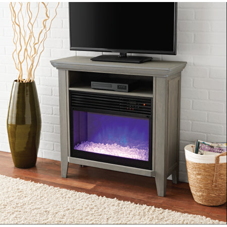 Infrared Quartz Fireplace Heater with Storage Shelf - EK CHIC HOME