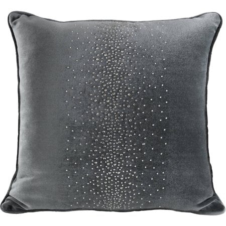 Gray Velvet Crystals Pillow - EK CHIC HOME
