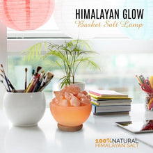 Load image into Gallery viewer, Himalayan Glow Ionic Pink Salt Hand Carved Crystal Bowl Lamp - EK CHIC HOME