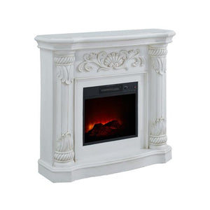 40 inch Electric Fireplace Heater in White - EK CHIC HOME