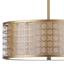 Load image into Gallery viewer, Drum Pendant Light, Antique Gold - EK CHIC HOME