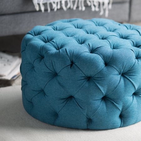 Superb Round Tufted Ottoman Teal Andrewgaddart Wooden Chair Designs For Living Room Andrewgaddartcom