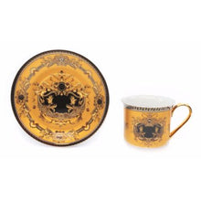 Load image into Gallery viewer, Royalty Porcelain 12-pc Gold Tea Set, Service for 6, Medusa Greek Key, 24K Gold - EK CHIC HOME