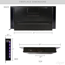 "Load image into Gallery viewer, 39"" Adjustable Electric Fireplace Heater - EK CHIC HOME"