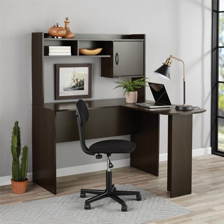L-Shaped Desk with Hutch, Multiple Colors - EK CHIC HOME