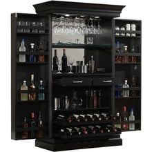 Load image into Gallery viewer, Black Stain Home Bar Wine Wall/Cabinet - EK CHIC HOME