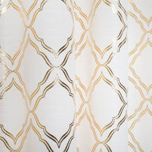 Load image into Gallery viewer, Metallic Foil Trellis Curtain Panel - EK CHIC HOME