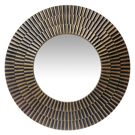 Moreno Round Wall Mirror - 22W x 22H in. - EK CHIC HOME
