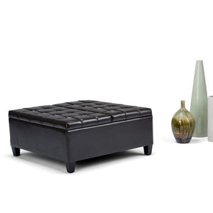 Coffee Table Storage Ottoman - EK CHIC HOME