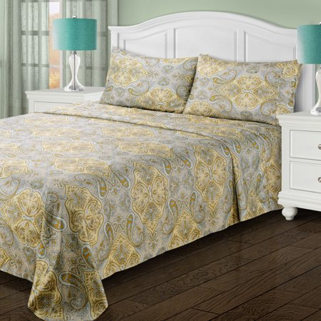 Superior Light Weight Microfiber, Wrinkle Resistant Paisley Sheet Set - EK CHIC HOME