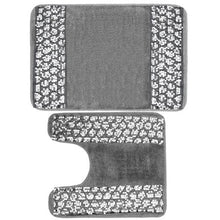 Load image into Gallery viewer, Silver Collection Bath & Contour Rug Set - EK CHIC HOME