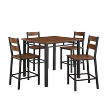 Load image into Gallery viewer, 5-Piece Counter Height Dining Set, Vintage Oak - EK CHIC HOME