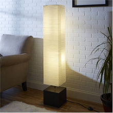 Load image into Gallery viewer, White Rice Paper Floor Lamp with Dark Wood Base - EK CHIC HOME