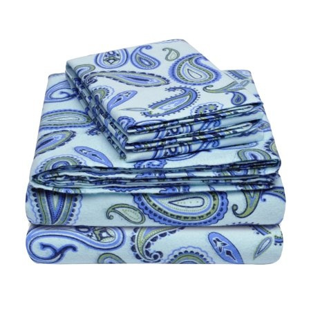 Superior Flannel Quality Cotton Paisley Sheet Set - EK CHIC HOME