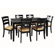 Load image into Gallery viewer, 7-Piece Large Dining Set with 6 Ladder Back Chairs - EK CHIC HOME