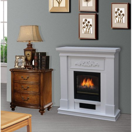 38 inch Wall/Corner Electric Fireplace Heater in White - EK CHIC HOME