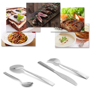 Silverware Set, 24 pcs Stainless Steel Silverware Sets Service for 6 with Luxury Gift Box - EK CHIC HOME