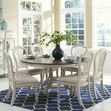 Load image into Gallery viewer, Pine Island 7-Piece Round Dining Set with Wheat Back Chairs - EK CHIC HOME