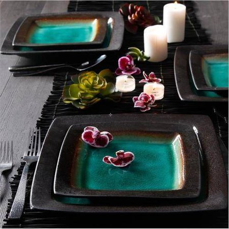 Ocean Oasis 16-Piece Dinnerware Set - EK CHIC HOME