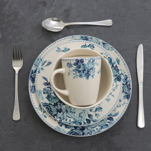 Blue Rose Traditional 16 Piece Elegant Dinnerware Set - EK CHIC HOME