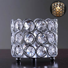 Load image into Gallery viewer, Silver Elegant Votive Tealight Crystal Candle Holder - EK CHIC HOME